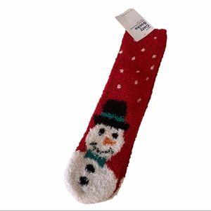 2/$13 NWT Cozy Red Christmas Socks